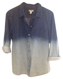 Old Navy Button Down Shirt Blue Ombre