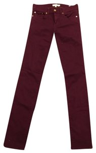 Tory Burch Straight Pants Maroon