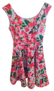 MILLY short dress Floral Print on Tradesy