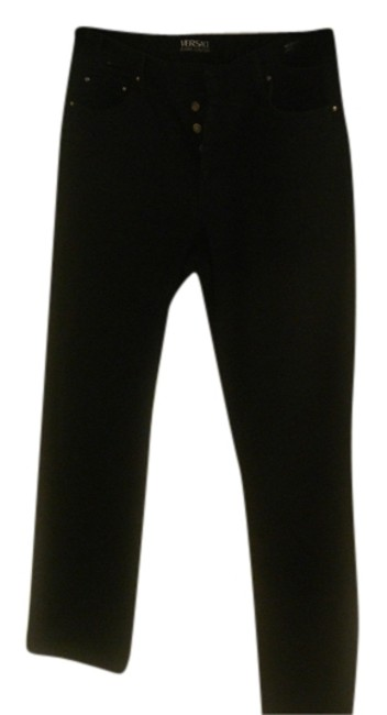 Item - Black Couture Blk Womens Studded Button Fly Italy Straight Leg Jeans Size 34 (12, L)