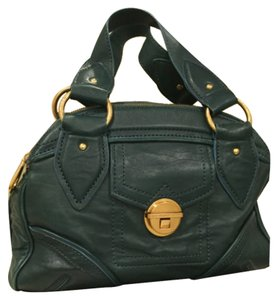 Marc by Marc Jacobs Leather Gold Hardware Satchel in Teal