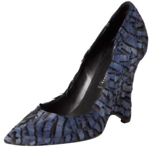 Theory Blue Pheasant Feather Wedges