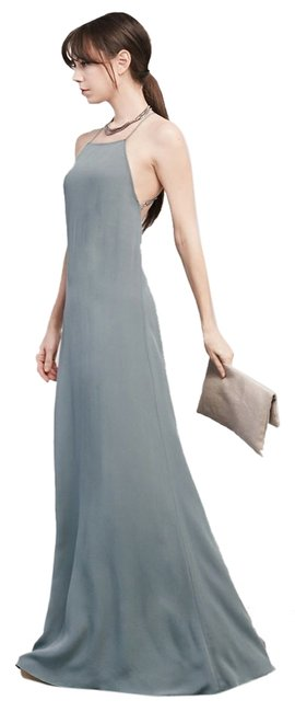 Item - Grey Fontaine Long Night Out Dress Size 4 (S)