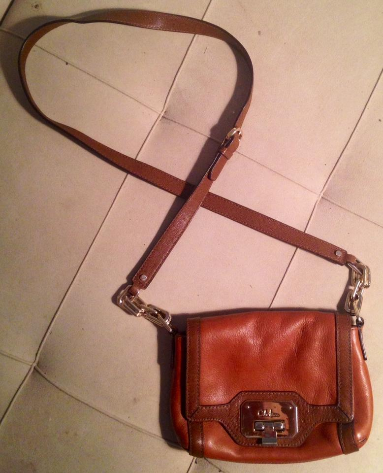 Cole Haan Style B31908 Marisa Woodbury Vintage Valise Leather With Gold Tone Hardware Cross Body Bag Tradesy