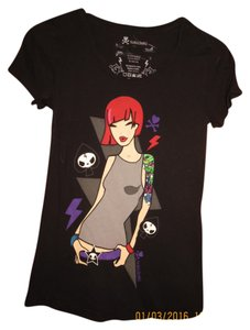 Tokidoki Japanese Italian T-shirt T Shirt Black with Graphic