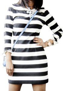 Zara short dress Stripe (Black and White) on Tradesy