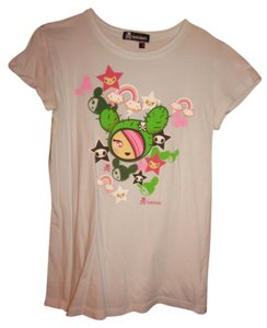 Tokidoki Japanese Italian Cactus T Shirt Light Blue with Graphic