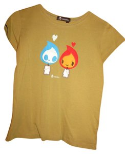 Tokidoki Japanese Italian Candle T Shirt Green with Graphic
