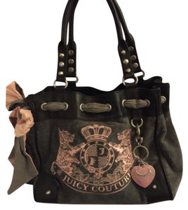 Juicy Couture Satchel in Black/Grey/Pink