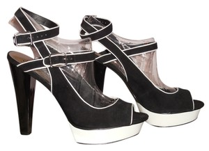 Fergie black and white Platforms