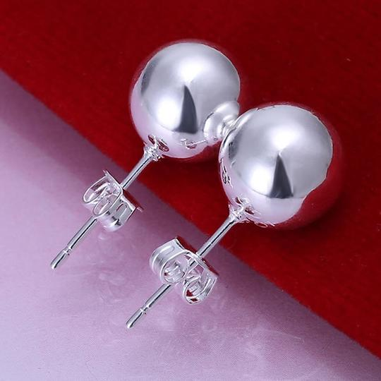 Of Bride Ball Stud Solid Sterling Silver 925 Bridesmaid Gift Earrings