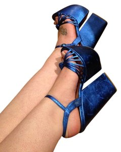 Jeffrey Campbell Blue Platforms