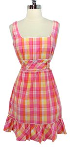 Lilly Pulitzer short dress Pink, Orange Plaid on Tradesy