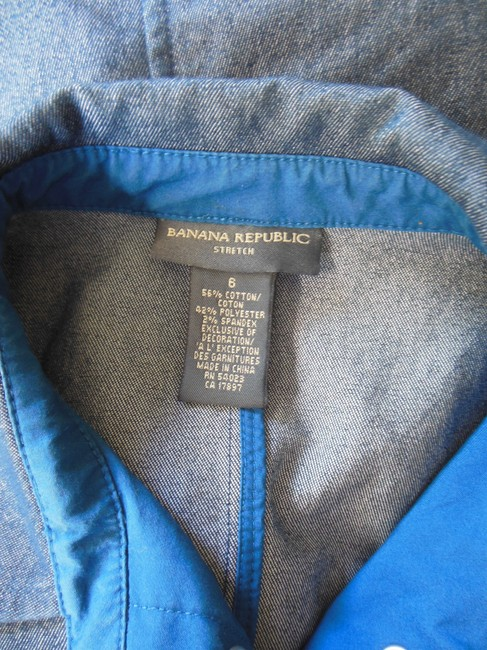 Banana Republic Snap Front Stretch Womens Jean Jacket