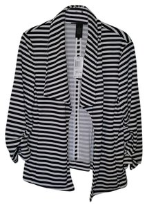 Grace Elements Great For Travel Black and White Stripe Blazer