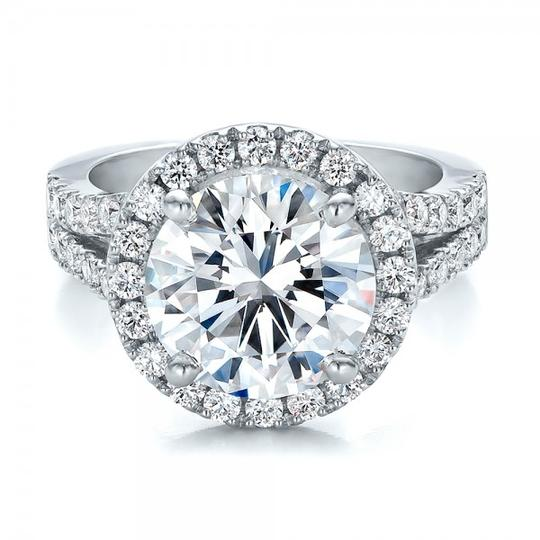 4.5 5 6 7 8 Size 2ct Diamond Engagement Halo Round Band Proposal New Certified Nscd Sona Pt950 Platnium Ring