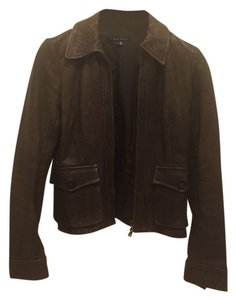Theory Leather Brown Leather Jacket