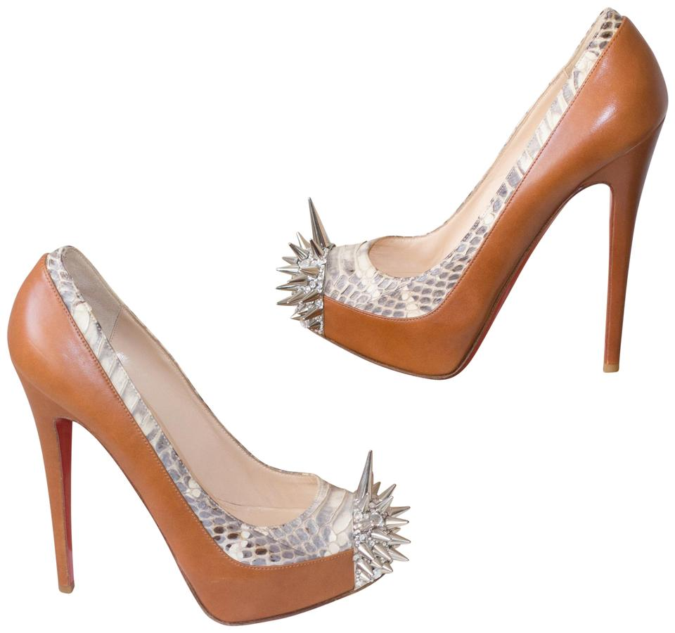 177c5605159 Christian Louboutin Brown Asteroid Platform Eu 37 Pumps Size US 6.5 Regular  (M, B) 71% off retail