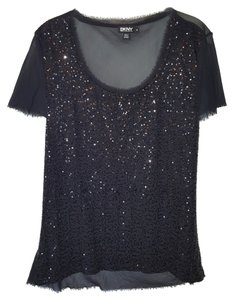 DKNY Sequin Top Black sequin