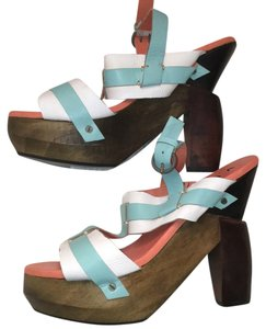 VILA blue and white Sandals