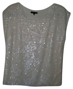black gold Sequin Top Ivory