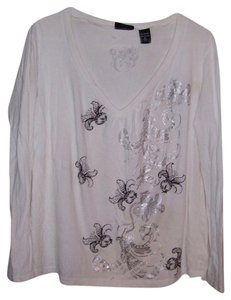 New York & Company Top white/black/silver
