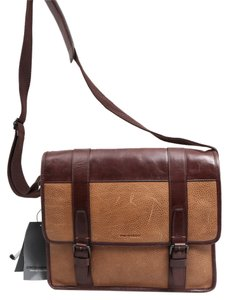 Johnston & Murphy Tan Messenger Bag