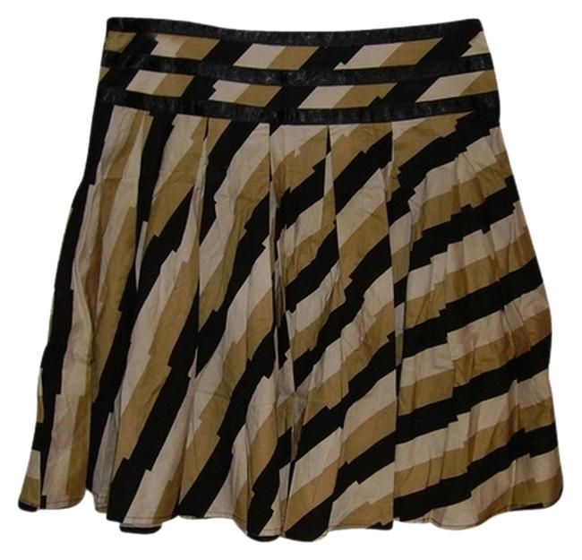 egoshego Mini Skirt tan/black/white