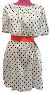 Uniqlo short dress Ivory with black polka dot on Tradesy