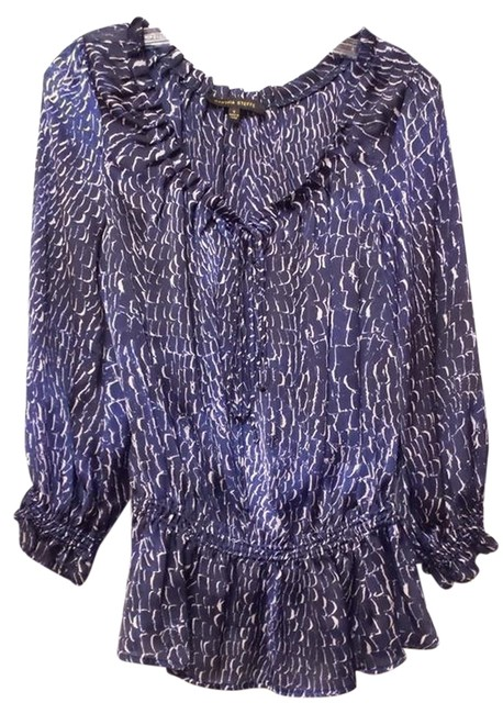 Preload https://img-static.tradesy.com/item/10620751/cynthia-steffe-blue-white-black-new-neiman-marcus-sophisticated-peasant-style-blouse-size-4-s-0-1-650-650.jpg