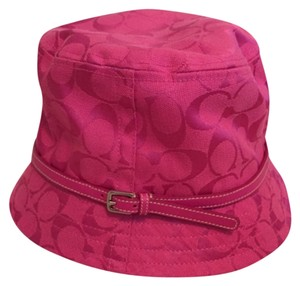 Coach Hot Pink Coach Bucket Hat