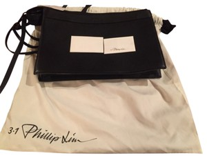 3.1 Phillip Lim Designer Hardware Leather Black Clutch