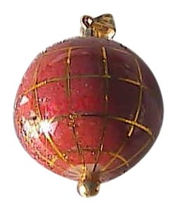 14k Yellow Gold & Multi Gemstone Enamel Globe of the World Pendant