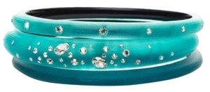 Alexis Bittar Alexis Bittar Turquoise Lucite And Crystal Bracelet Set Of 3