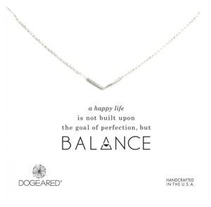 Dogeared Dogeared Balance V Necklace, Sterling Silver