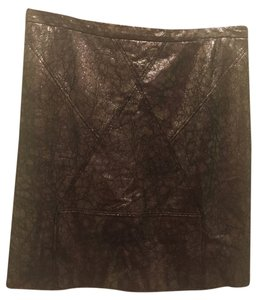 Geren Ford Leather Mini Skirt Metallic