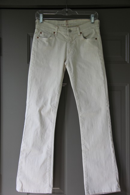 Item - Off White Light Wash Straight Leg Jeans Size 27 (4, S)