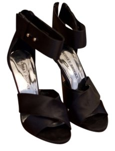 Audrey Brooke Satin Heels Evening Date Night Black Formal