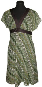 Sheri Martin short dress brown/green on Tradesy