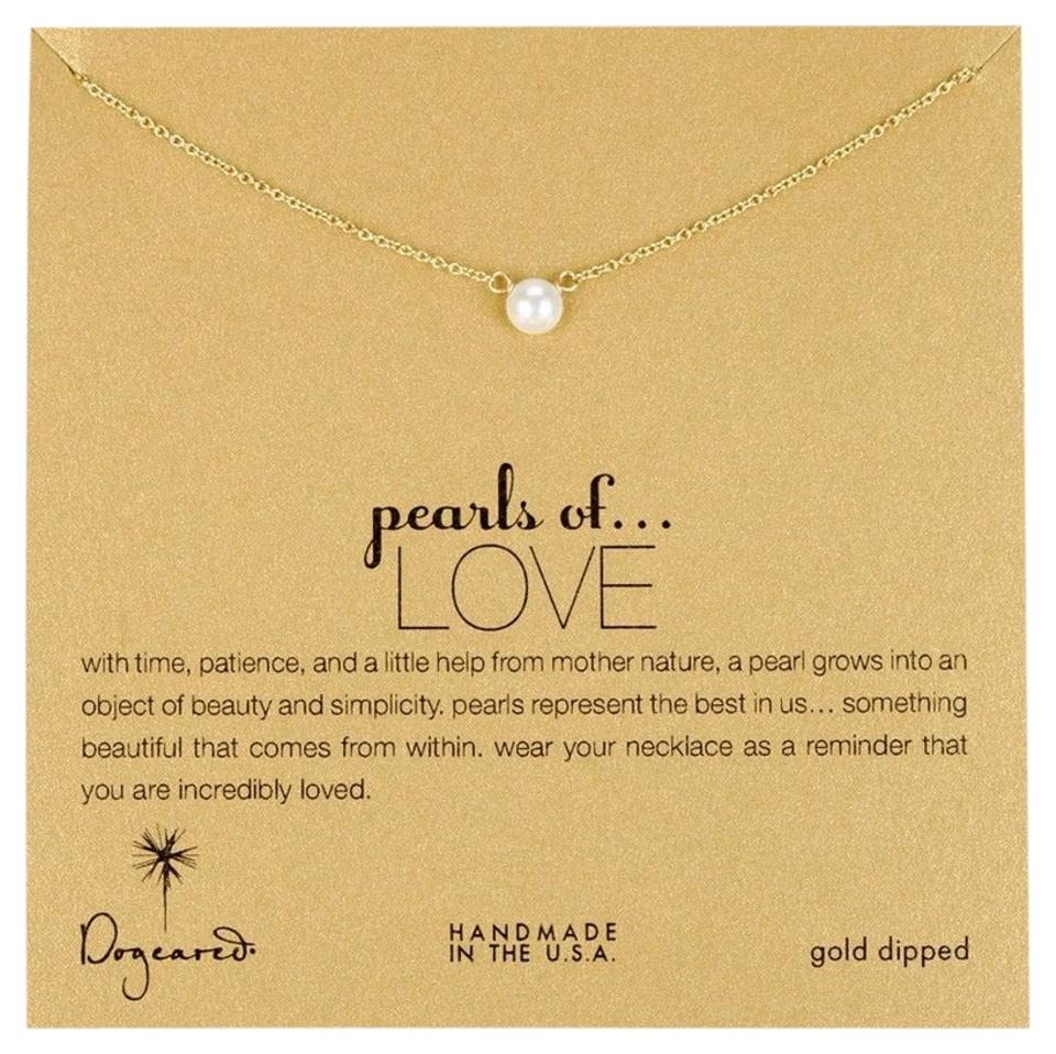 5c4c3d83d Dogeared Dogeared Pearls of Love Gold Dipped Necklace Image 0 ...