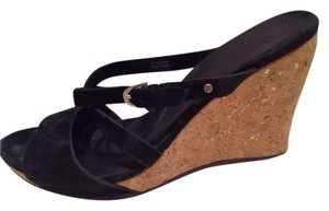 UGG Australia Wedge Sexy Sandal Cork Black Wedges