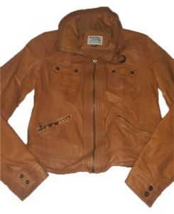 Bershka Caramel Tan Leather Jacket