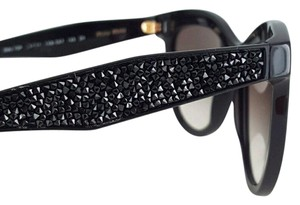 0c89e004e61 Miu Miu MIU MIU SMU 10P Black Crystal Rock Cat Eye Sunglasses