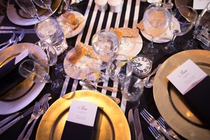 Black And White Table Runners