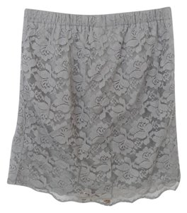 Xhilaration Lace Lace Lace Mini Mini Skirt grey