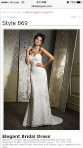 Alfred Angelo Sapphire- Style 869 Wedding Dress