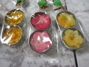 16 Beautiful Yellow Orchid Flower Tealights Candles