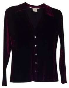 Max Studio Button Down Shirt Dark Red Purple