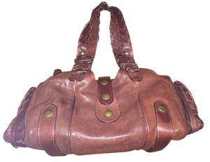 Chloe Satchel in Saddle Brown