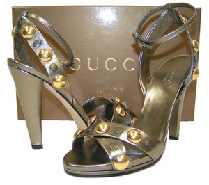 Gucci Pewter Sandals